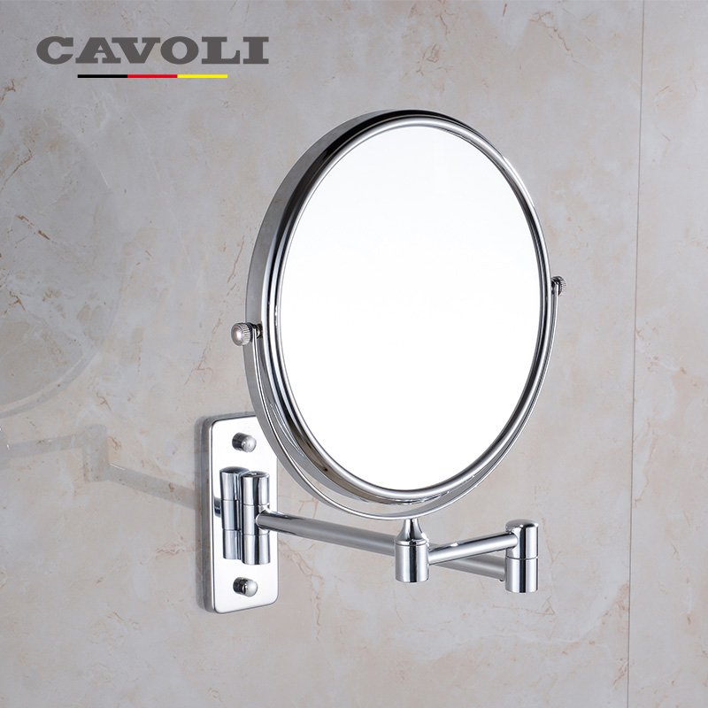 Cavoli Makeup Mirror 6 Inches Stainless Steel Chrome Bath