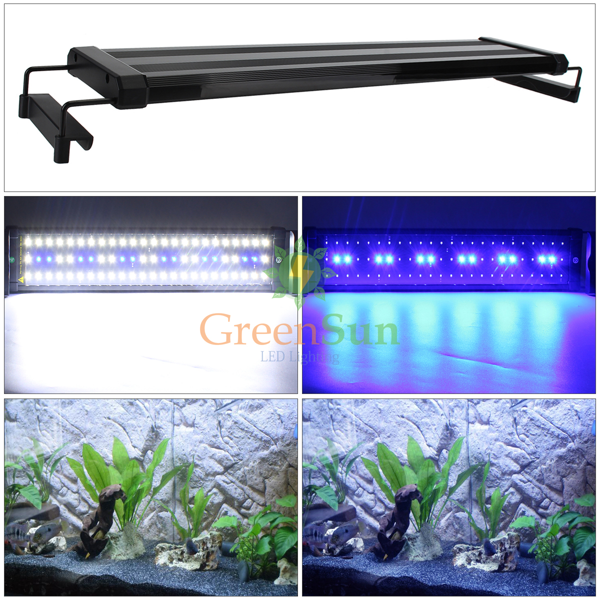 Aquarium Bottom Light Uk Plug 6w 11w Aquarium Led Lighting Fish Tank Light
