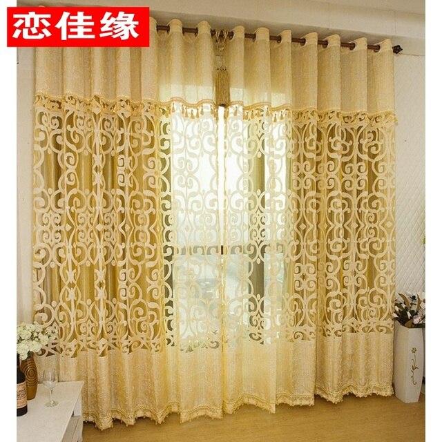 Curtain Quality Curtain Window Screening Gold Multicolour Jacquard Window  Screen Bedroom Curtain