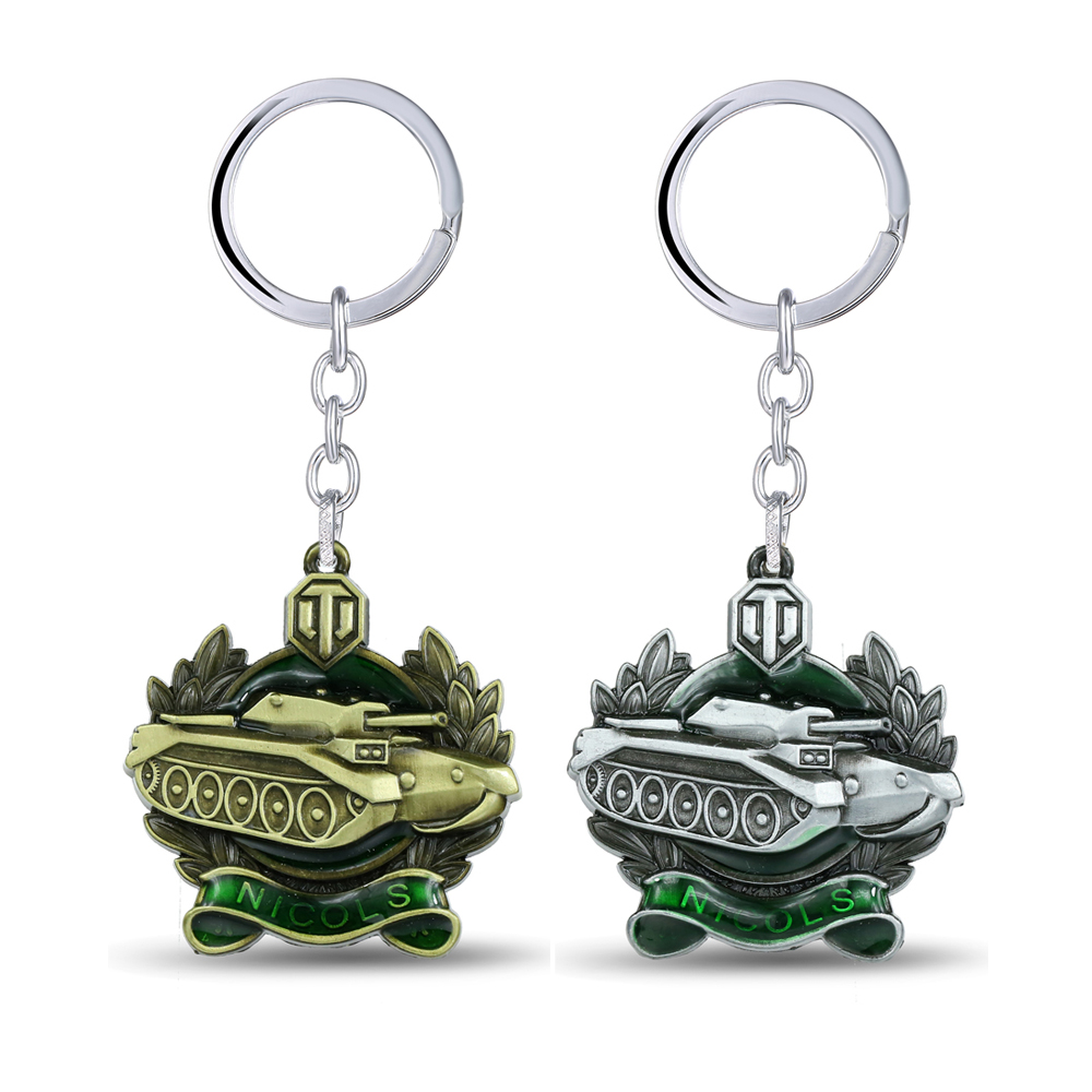 MS JEWELS Game Gifts World of Tanks Keychain Metal Key Rings For Present Chaveiro Key Chain Jewelry