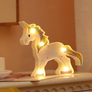 Image 4 - น่ารักAlpaca Flamingo Unicornโคมไฟ 3D Night Lightของขวัญเด็กของเล่นสำหรับทารกเด็กห้องนอนตกแต่งข้างเตียงโคมไฟตั้งโต๊ะตาราง