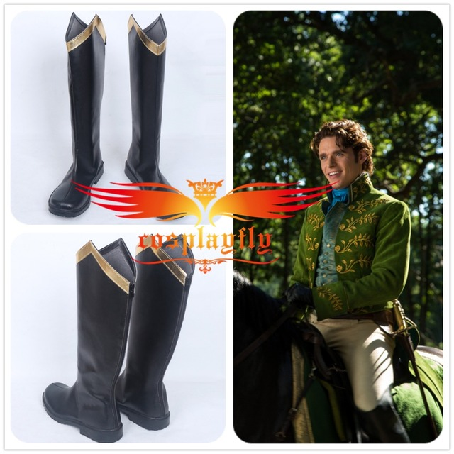 6300ae8da5a90 Aliexpress.com : Buy Cinderella Prince Cosplay Shoes Boots For Charming  Costume For Adult Costume Halloween Christmas from Reliable boots boots ...