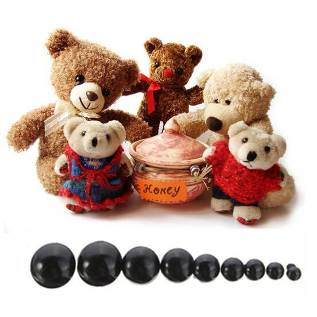 6-20mm Black Plastic Safety Eyes For Teddy Bear//Dolls//Toy Animal//Felting DIY