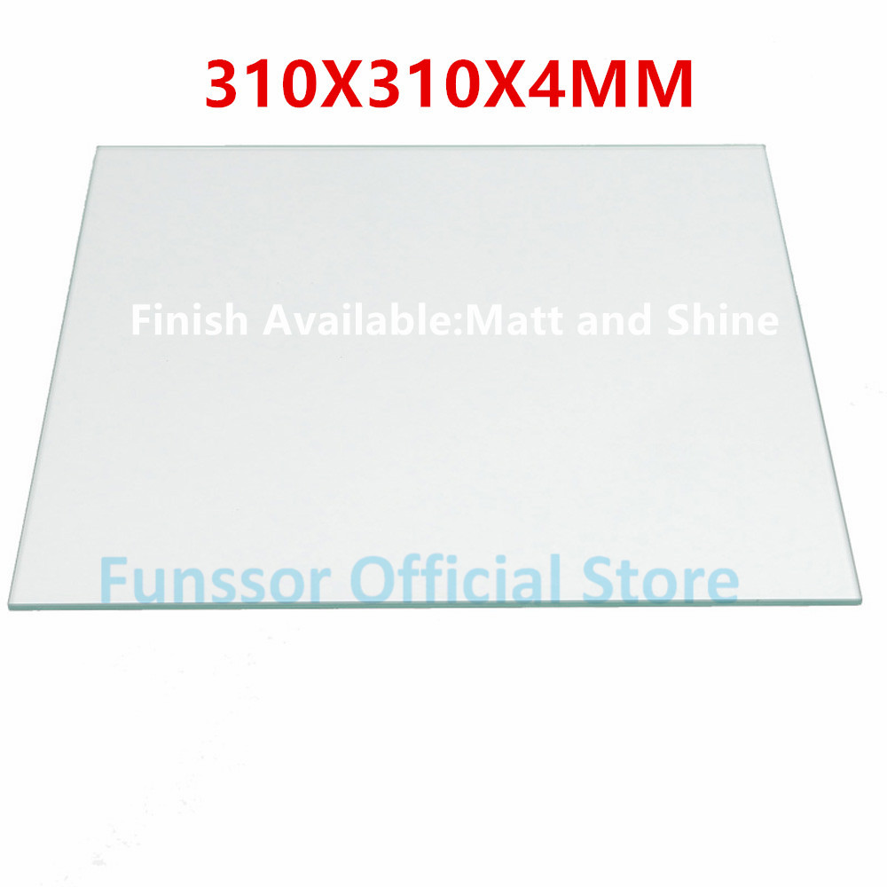 Funssor Large-Size printing Borosilicate Glass Plate Bed 310mmX310MM for DIY Creality Cr-10 3D printer 4mm thickness