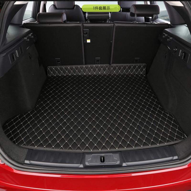 For Jaguar F PACE 1PC Car Auto Special Trunk Mats Durable Boot Carpets Car Styling Accessories Interior Floor Mats