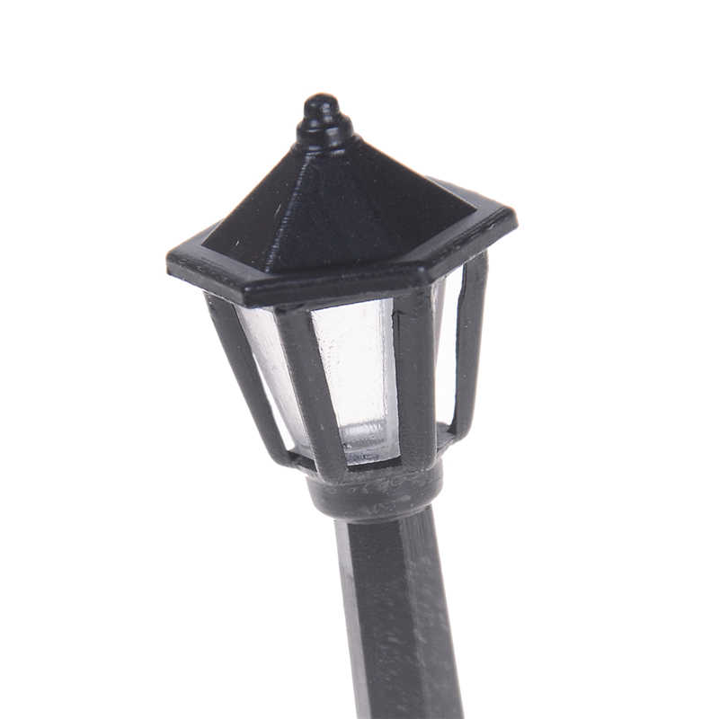 5 szt pojedyncze skala głowy latarnie pociągu N skala światła modelu lampy ogrodowe lampy uliczne modelu budynku sprzedaż hurtowa