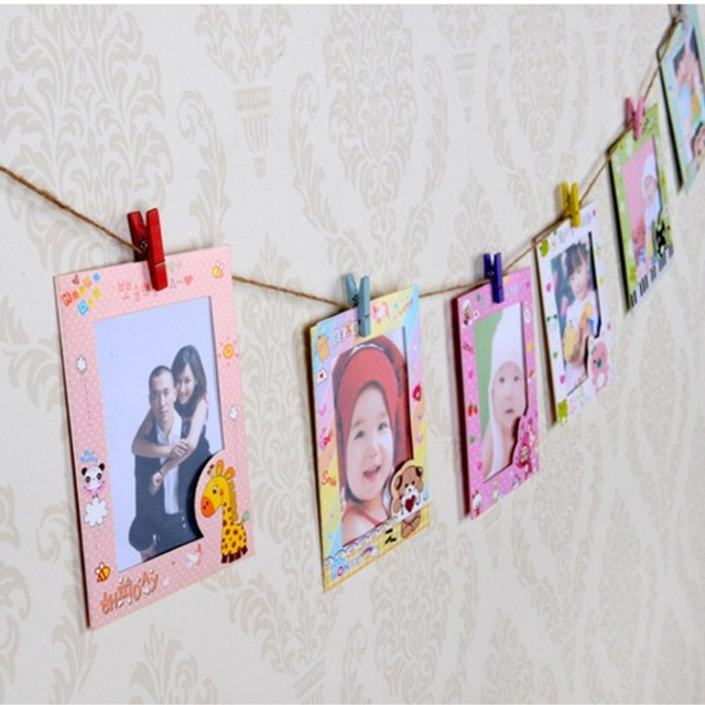 9 pcs/lot 6 Inch DIY Wall Hanging Cute Animal Paper Photo Frame For ...