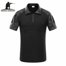 MEGE POLO tactique de Camouflage pour hommes, Polo de Combat de larmée, haut et tee shirts ACU MultiCam pour assaut rapide, POLO Airsoft de Paintball
