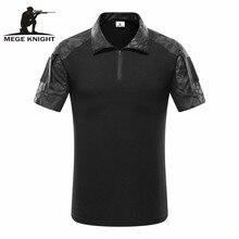 MEGE Tactical Camouflage hombres camisa POLO de combate del Ejército, Rapid Assault ACU MultiCam Tops y camisetas para hombre, Airsoft Paintball Polo