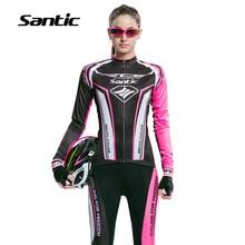 Santic Long Sleeve Cycling Jersey Women 2016 Anti-UV Breathable RTS Racing Team Dowhill Bicycle Bike Jersey Kit Cycling Clothing