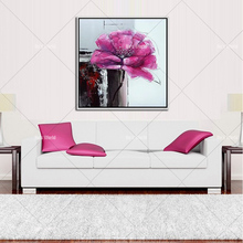 new Handpainted Oil Painting On Canvas knife flower Abstract Modern Picture Wall Art for Living Room Decor no Frame