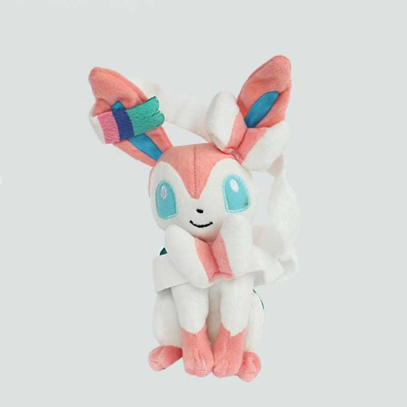 Hot 25cm Pokemon Sylveon Plush Doll for Kids Toy Soft Kawaii Anime Peluche Pokemon Toy for Children Gift