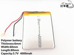 Image 4 - 3.7 V, 4000 mAH, 606080 Polymer lithium ion/Li   Ion แบตเตอรี่สำหรับของเล่น, POWER BANK, GPS, mp3, mp4