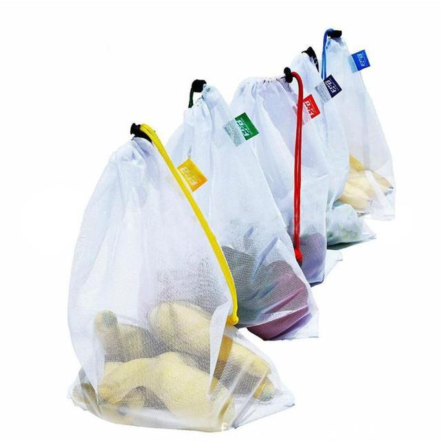 10pcs Set Toys Shoes Ng Bags Reusable Produce Sched Debris Vegetable Fruit Grocery Mesh