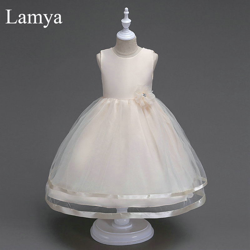 LAMYA Flower Girls Dresses for Wedding Kids Evening Dress Holy Communion Dresses for Little Baby Party Prom Dress Pageant Gowns