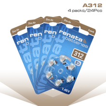 24 pcs/4cards 1.45V Performance 312 A312 312A ZA312 PR41 AC312 ME7Z Hearing Aid Batteries Zinc Air Battery for CIC aids