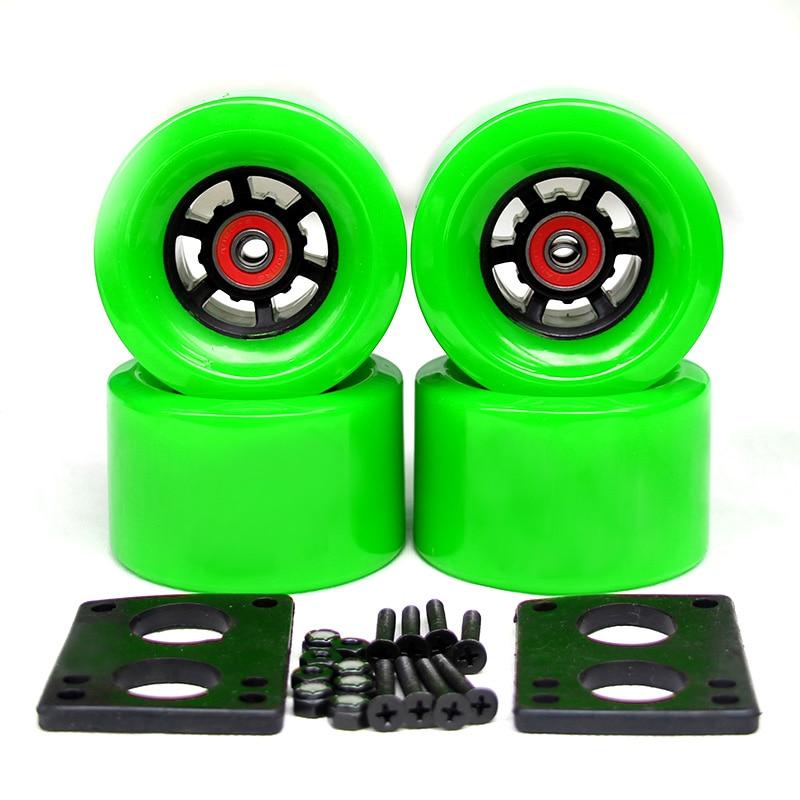 78A 97*52mm Electric Skateboard Wheels Brush Street Big Wheel Long Board Wheels ABEC-9 Bearings Bushings 35mm Bolts 6mm Gasket