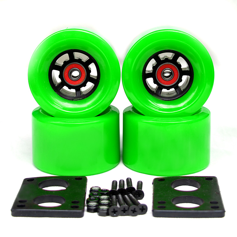 78A 97*52mm roues de planche à roulettes électriques brosse rue grande roue longue planche roues ABEC-9 roulements bagues 35mm boulons 6mm joint