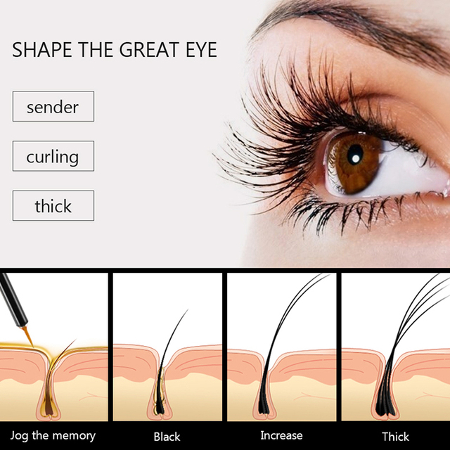 FEG Eyelash Enhancer 100% Original Eyelash Growth Treatment Serum Natural Herbal Medicine Eye Lashes Mascara Lengthening Longer 6
