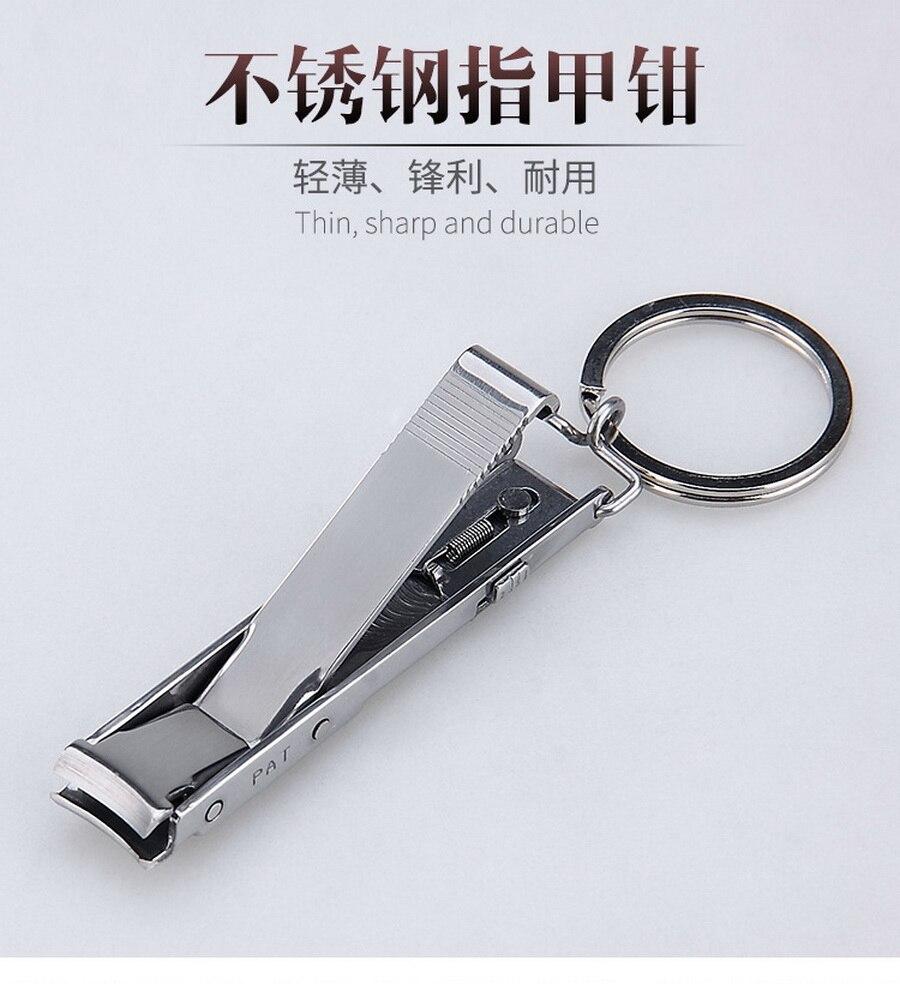 Durch Dhl 200 Stücke Edelstahl Ultra-dünnen Faltbare Hand Kappe Nagelknipser Cutter Trimmer Keychain Qualität Hohe Werkzeug Ausreichende Versorgung