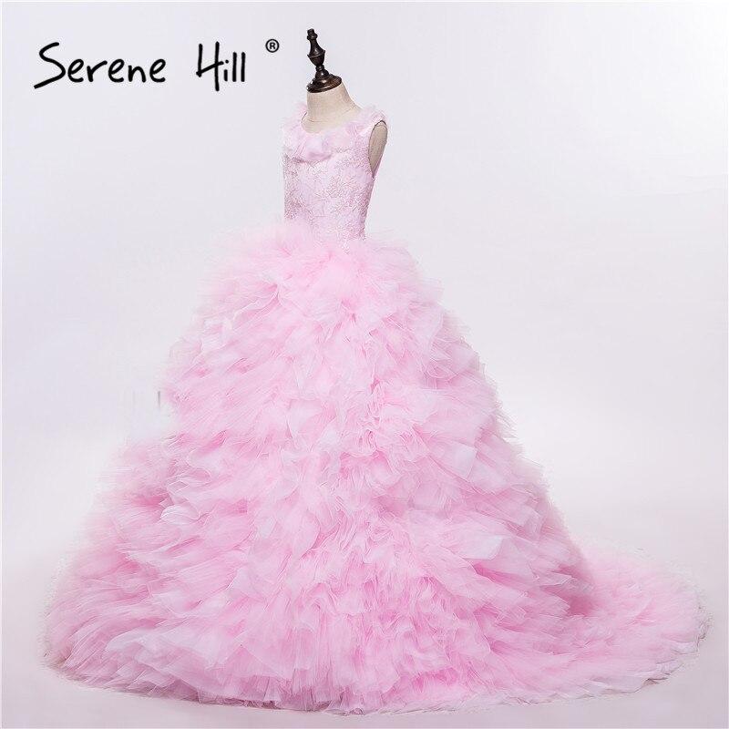 Pink Ruffles   Flower     Girl     Dresses   Cloud Baby Cloudy Puffy Ball Gown   Flower     Girl     Dress   Plus Size Custom Made 2018 Serene Hill