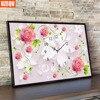 UzeQu Full Diamond Embroidery Rose Wall Clock 3D DIY Diamond Painting Cross Stitch Clock Mosaic Round
