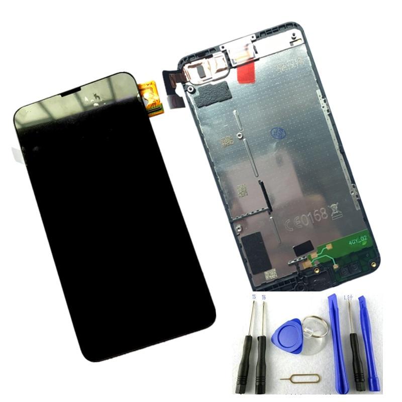 imágenes para 100% Prueba Nueva Probado Pantalla LCD Full + Pantalla Táctil Digitalizador + Frame Para Nokia lumia 630 635 N630 N635 LCD con pantalla táctil