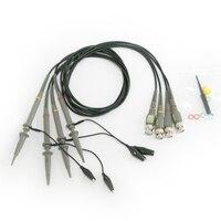 New High Quality 4Pcs Oscilloscope Probe Kit DC 4MHZ 100MHz 1X 10X Oscilloscope Clip Probes