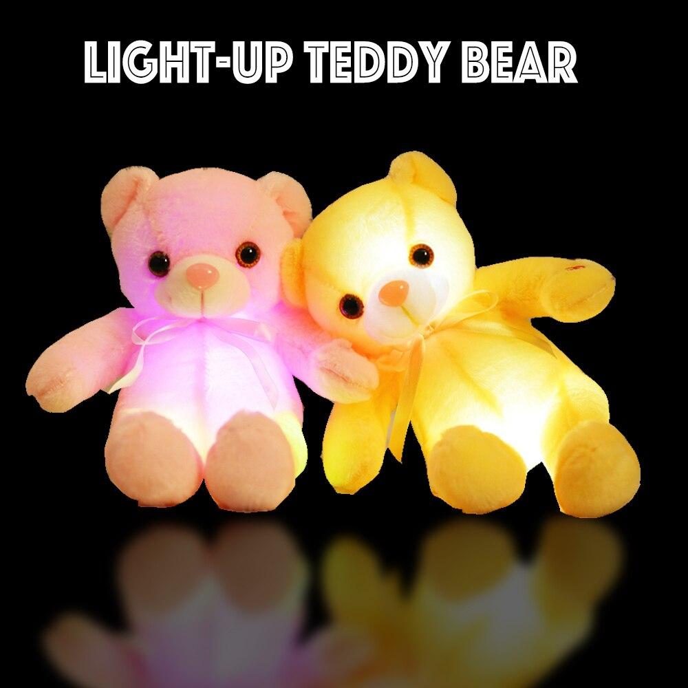 Ours en peluche douce peluche Glow Couleur Changeante lumière Veilleuse jouet