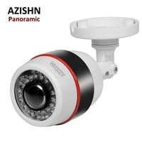AZISHN Panoramic IP Camera Waterproof 2 0 MP 1080P Wide Angle 1 7MM Lens Motion Detect