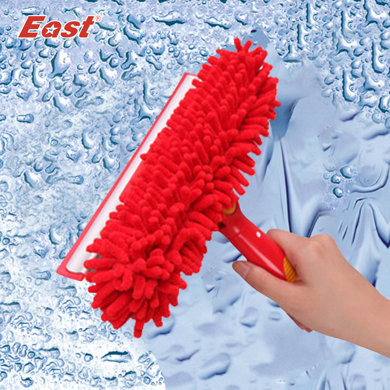 East Useful Magic Long Pole Window Squeegee Wipe Chenille Window Cleaner Glass Brush for Wedding gift Chinese style