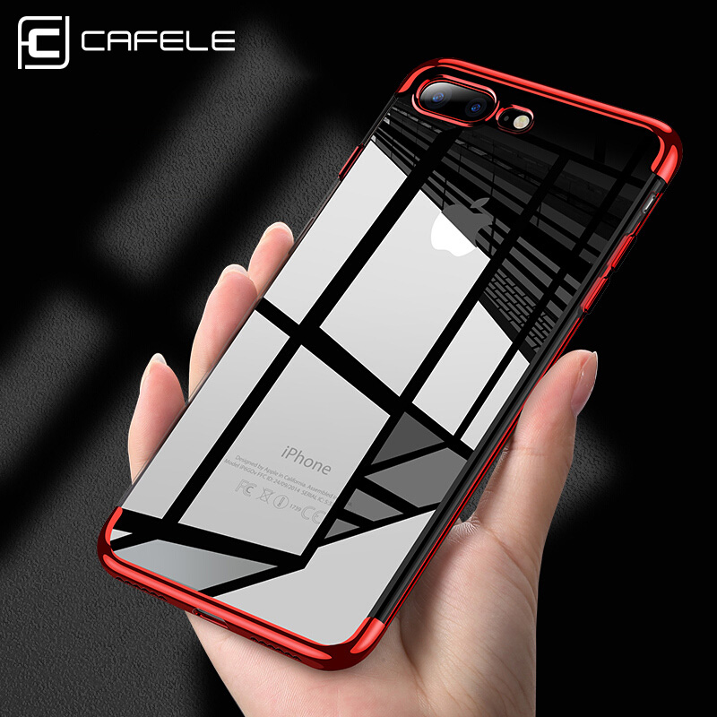 Cafele Plating TPU Case for iPhone 7 8 Plus Colorful Fashion Plating Soft TPU Phone Cover for iPhone 7 8 Plus