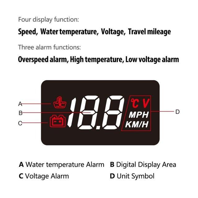 GEYIREN A100 Car HUD Head Up Display OBD2 II EUOBD Overspeed Warning System Projector Windshield Auto Electronic Voltage Alarm