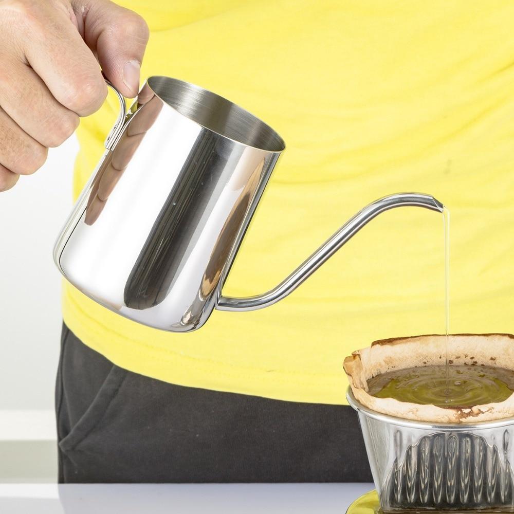 Koffieketel Swan Neck Drip Koffie Theepot Melkschuimkruik Roestvrij - Keuken, eetkamer en bar
