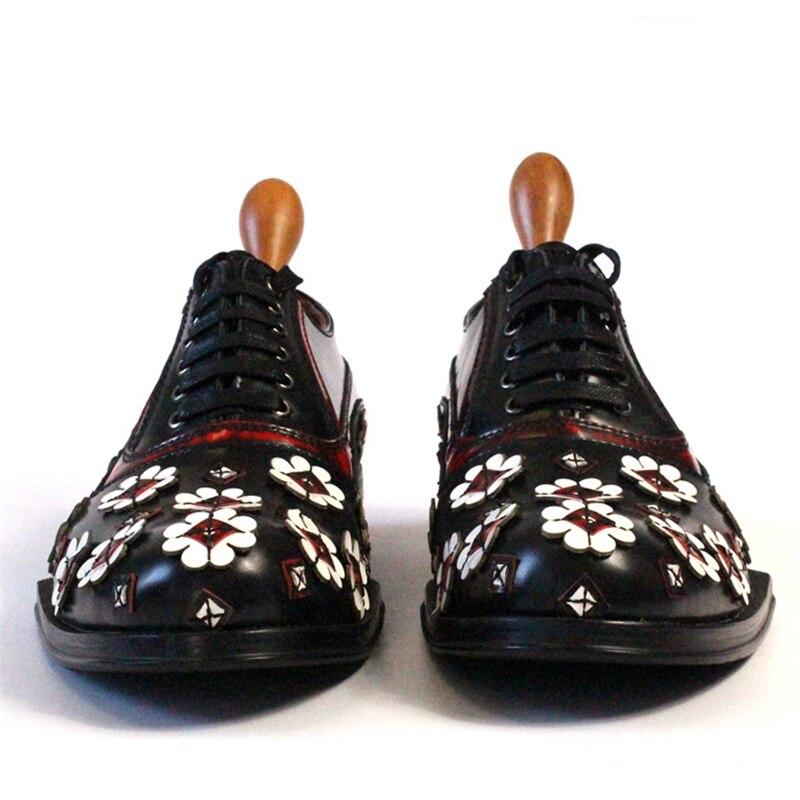 Handgemachte Klassische Herren End Leder Schuhe Reine High