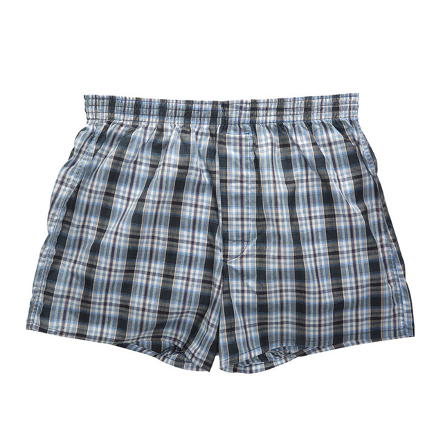 Men's Breathable Plaid Cotton Boxers