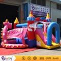 Popular lo último juegos inflables para bebé/PVC niños inflables puente combinado con dinasaur tema venta BG-G0469 juguete