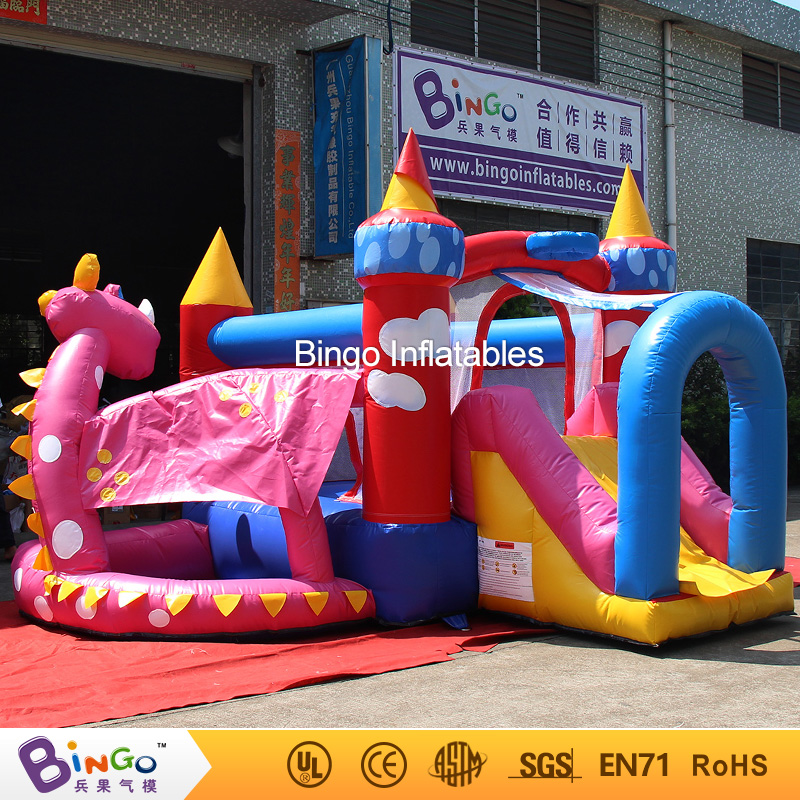 Popular newest inflatable baby games/PVC kids inflatable combo jumper with dinasaur theme for sale BG-G0469 toy commercial sea inflatable blue water slide with pool and arch for kids