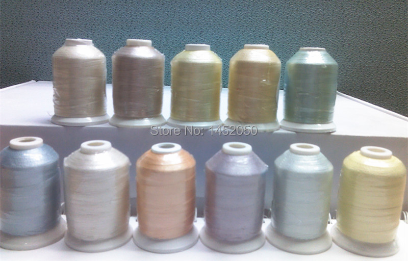 11 Spools PASTEL COLORS Embroidery Machine Thread Free Ship