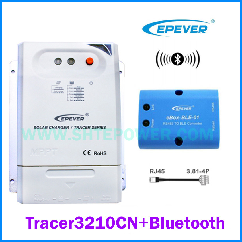 Tracer 3210CN 30A MPPT Solar Charge Controller 12V 24V LCD EPEVER Regulator with WIFI Bluetooth PC Communication Mobile APPTracer 3210CN 30A MPPT Solar Charge Controller 12V 24V LCD EPEVER Regulator with WIFI Bluetooth PC Communication Mobile APP