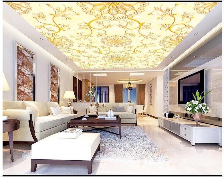 Купить с кэшбэком Custom photo wallpaper 3d ceiling wallpaper Patterned carpet smallpox condole top murals wall papers for living room decor