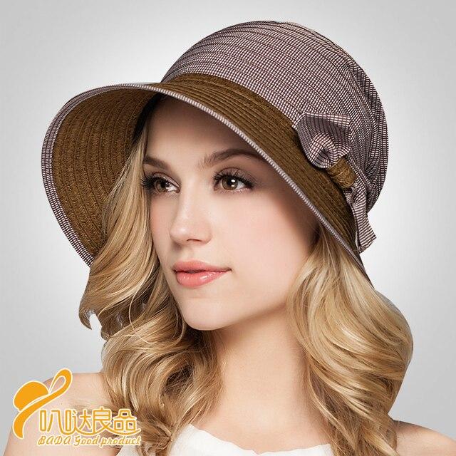 2016 новых леди шляпа солнца европа и в вс-затенение - соломенной шляпе прилив женщин летом шляпы для женщин-бич Hat B-2318