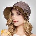 2016 nueva señora del sombrero del sol europa y el Shading del sombrero de paja de mareas femeninos del verano sombreros para mujer sombrero de playa B-2318