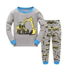 Новинка года, детская одежда для маленьких мальчиков и девочек, комплекты одежды, костюмы, одежда для сна из 2 предметов, пижама с длинными рукавами и героями мультфильмов для детей от 2 до 7 лет, fttt778