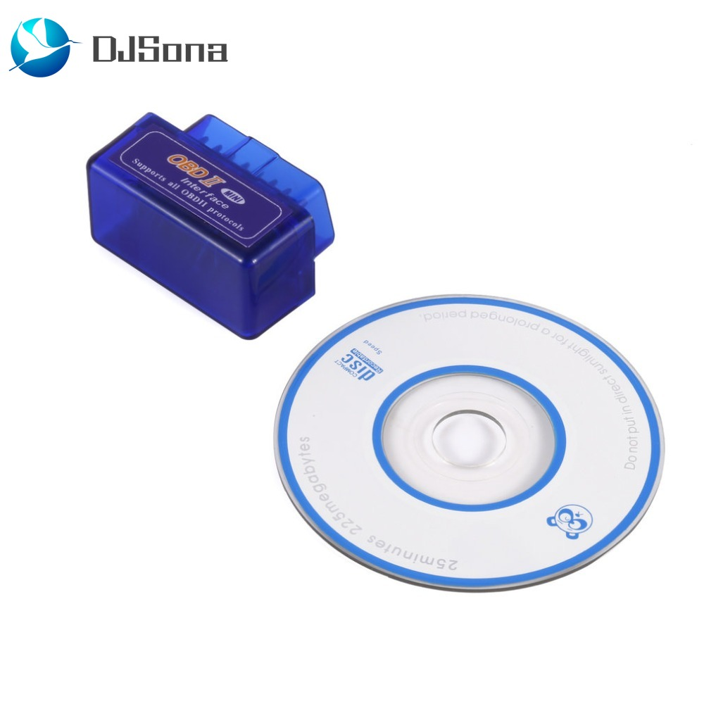 DJSona Mini <font><b>Elm327</b></font> <font><b>Bluetooth</b></font> <font><b>OBD2</b></font> V2.1 Ulme 327 <font><b>V</b></font> 2,1 OBD 2 Auto Diagnose-Tool Scanner Ulme-327 OBDII Adapter Auto scanner Tool H image
