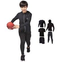 Brand Kids Compression Running Sets Sports Suit jacket shirt