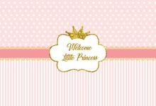 Laeacco Pink Stripes Crown Glitters Sparkling Baby Photography Backgrounds Customized Photographic Backdrops For Photo Studio