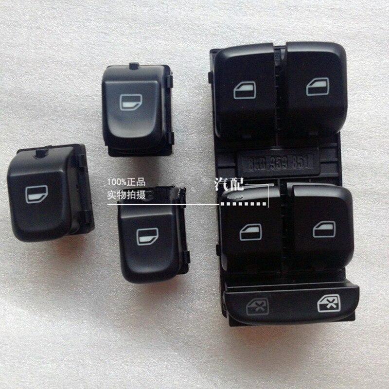Оригинальные оконные переключатели без хромирования, 4 шт., электрический переключатель на оконную раму для пассажирского сиденья, панель д