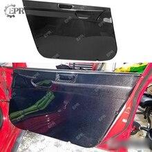 Дверные панели из углеродного волокна для Civic FD2 передняя/задняя внутренняя дверная карточка пара(левый привод) Корпус Комплект для Civic Racing отделка часть