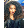 Hot Style Long Ombre Wigs Kinky Curly Synthetic Lace Front Wig For Black Women No Tangle Fiber Hair Wigs 16-26 inches Hot Sale